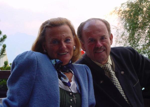 Die Altfürstin, mit Ihrem im Februar 2015 verstorbenen Mann, Fürst L.P. Batthyány-Strattmann