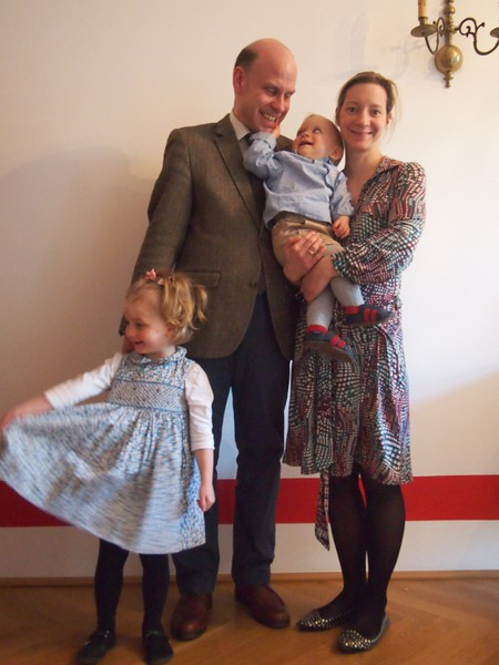 Fürst und Fürstin Batthyány-Strattmann mit Ihren beiden Kindern (Photo aus 2014)