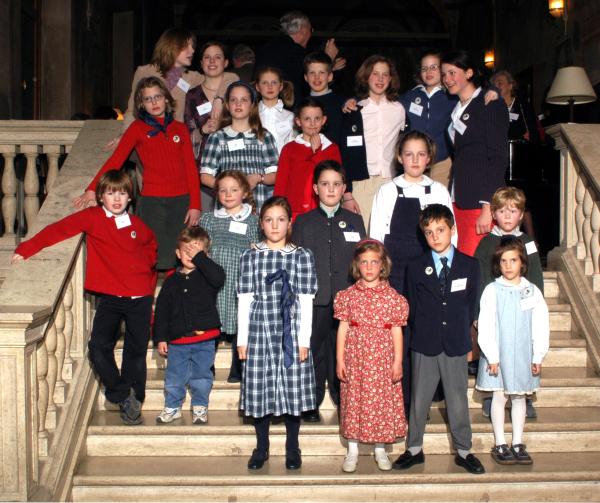 Einige der jüngsten Generation bei der Seligsprechung in Rom